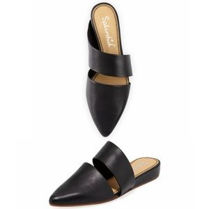 Splendid Scarla Mules black Leather Pointy Toe